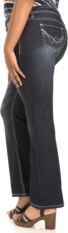 WallFlower Women's Juniors Legendary Stretch Bootcut Denim Jeans (Size: 0-24 Plus / 28-30-32 Inseam)