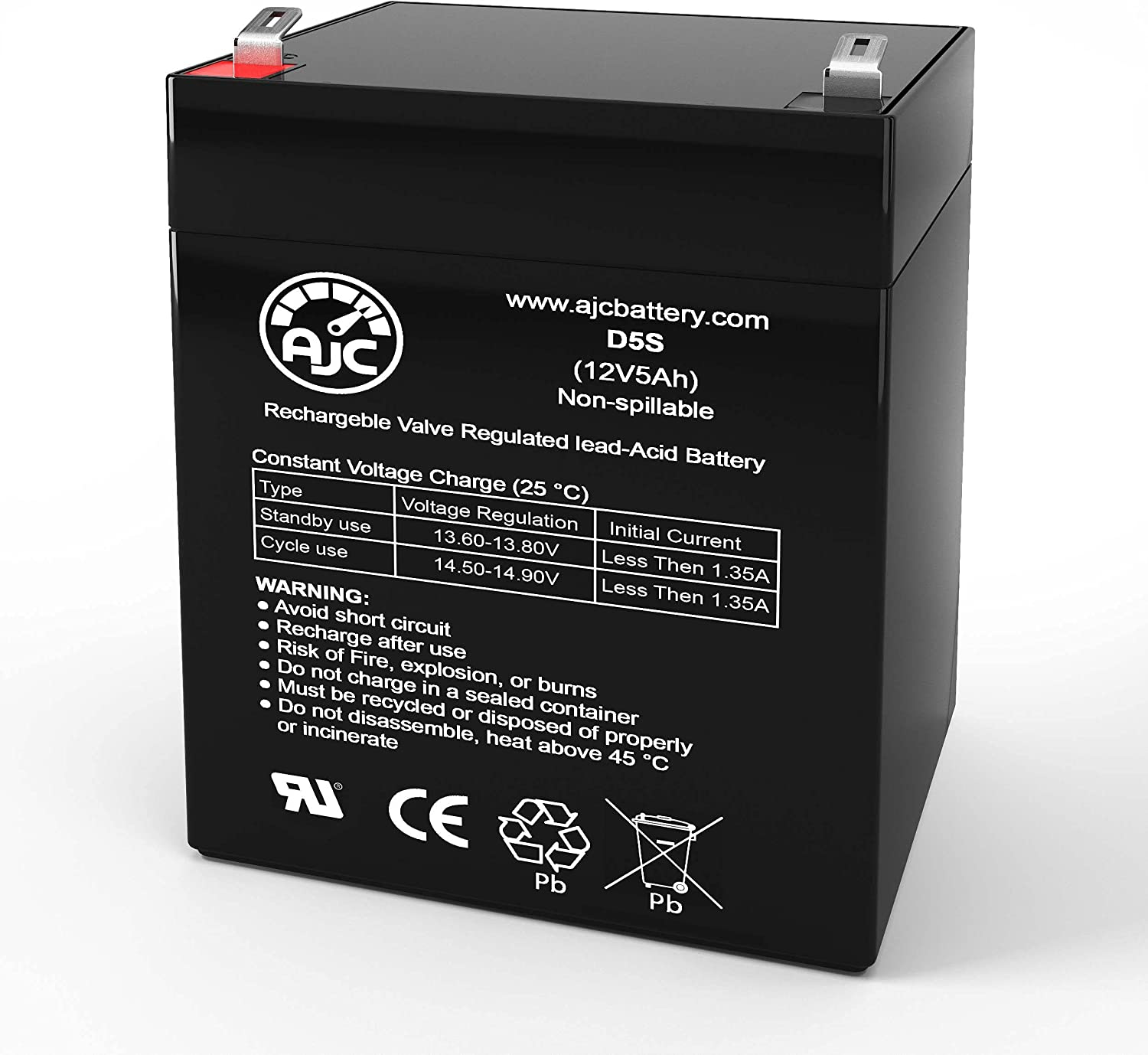 AJC Battery Compatible with Kung Long WP5-12 12V 5Ah UPS Battery