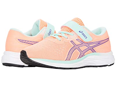 ASICS Kids Pre Excite 7 (Toddler/Little Kid) (Sun Coral/Gentry Purple) Girl