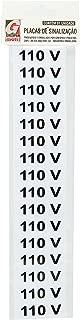 Placa De Sinalizacao 110v. 5x25cm. - Pacote com 5, Grespan, SIN124, Multicolorido