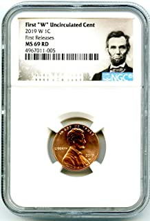 2019 W US MINT Lincoln Union Shield UNCIRCULATED FIRST RELEASES Penny Cent MS69 RD NGC