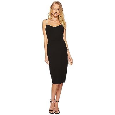 1.STATE Spaghetti Strap Slip Dress w/ Lace-Up (Rich Black) Women