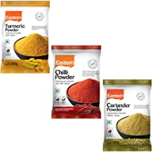 Eastern Chilly Powder(250 g), Turmeric Powder(250 g), Coriander Powder(100 g) (Pack of 3)