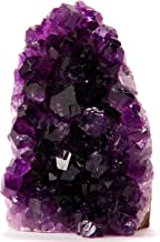 Superior Best Amethyst Cluster. (Less Than 1/2 lb) These Petite Purple Crystals are a Perfect Compliment to Your Powerful Collection of Amethyst. Includes a 3 inch Selenite Wand in a Velvet Bag.