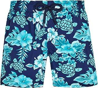 Vilebrequin - للأولاد - ملابس سباحة قابلة للتمدد زهور السلاحف