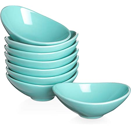 Dowan Ceramic Dip Bowls Set 3 Oz Porcelain Teal Dipping Sauce Bowls Dishes For Tomato Sauce Soy Bbq And Other Party Dinner Chip And Serving Bowls Set Set Of