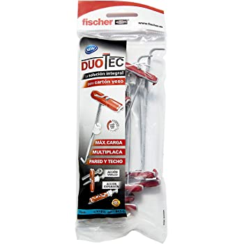 fischer (Bolsa Ud.), 541888, Gris+rojo, Duotec 10 taco: Amazon.es: Bricolaje y herramientas