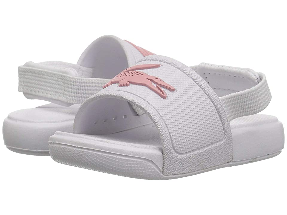 Lacoste Kids L.30 Slide 119 2 CUI (Toddler) (White/Light Pink) Girl