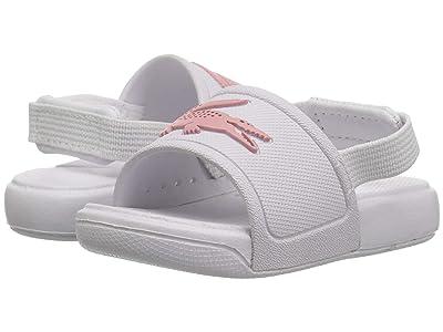 Lacoste Kids L.30 Slide 119 2 CUI (Toddler) (White/Light Pink) Girl