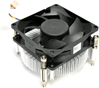 XG27M Inspiron 3650 Active Heatsink Assembly with Fan and 4Pin 4Wire System Board Cable Aluminum 20mm high Fin Module and ...