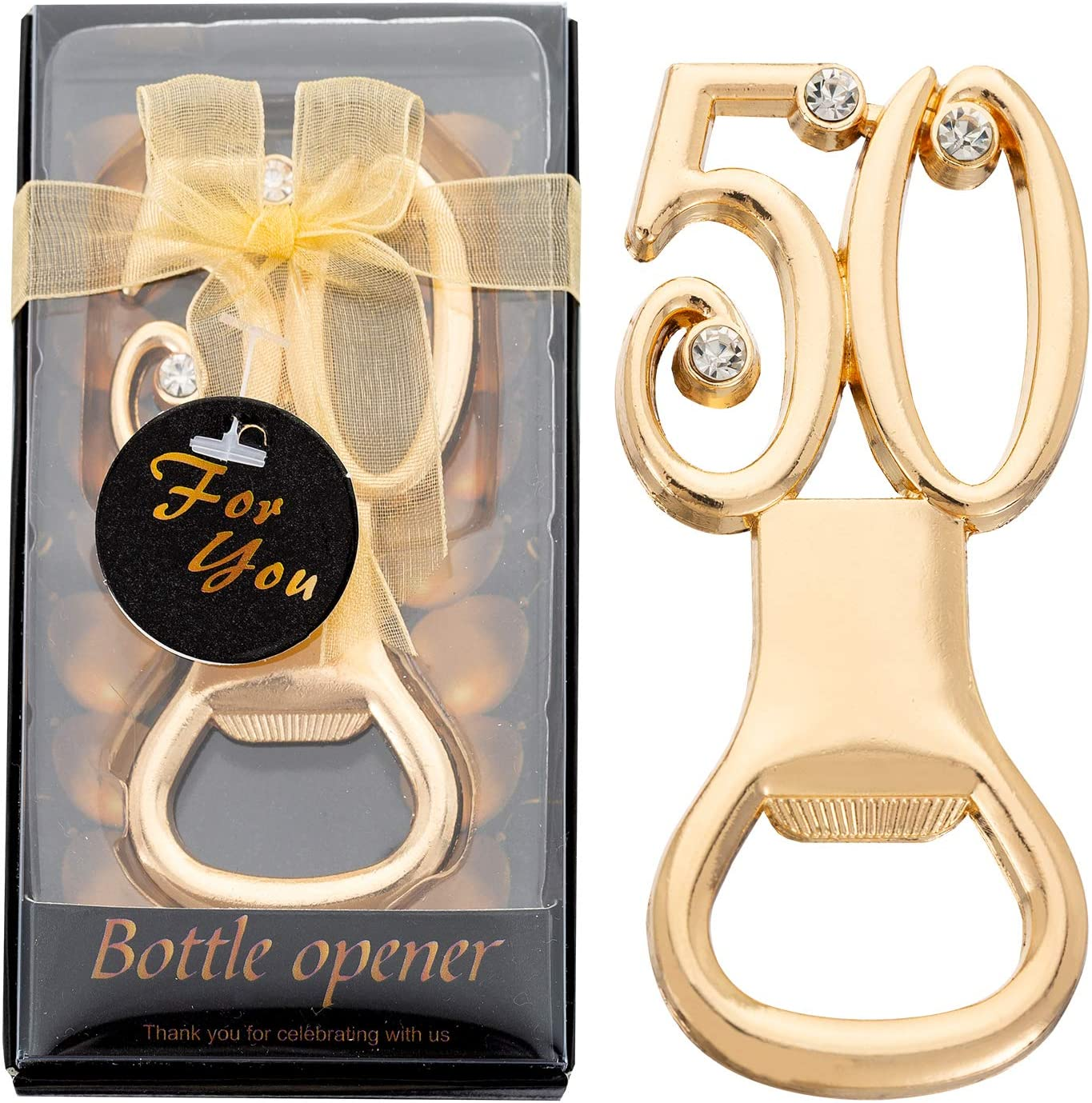 Mesa Mall 70% OFF Outlet 24PCS 50th Birthday Bottle Opener Party for Favors