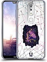 Head Case Designs Aquarius Zodiac Constellation Soft Gel Case Compatible for Nokia X6 / 6.1 Plus