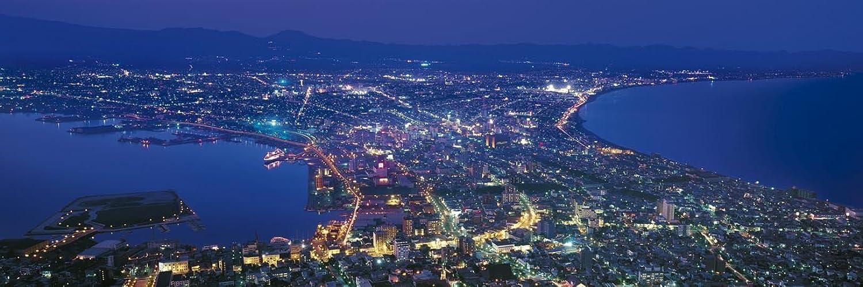 Night view from Hokkaido 18506 Guru wide 1518 Small piece of the puzzle Mount Hakodate (japan import)