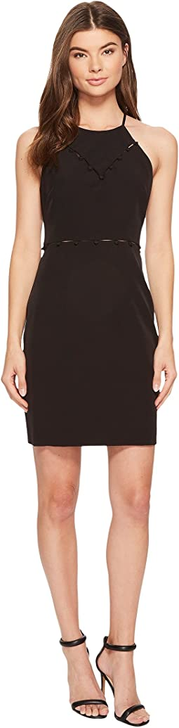 Laundry by Shelli Segal Button Trim Cocktail Dress