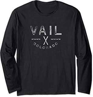 Vail Colorado Graphic Vintage Ski Long Sleeve T Shirt