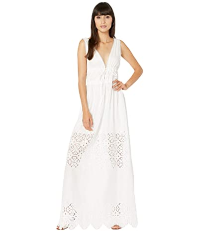 Jonathan Simkhai Waverly Floral Smocked Cover-Up Dress (White) Women