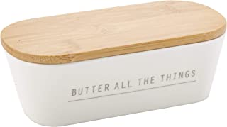 Tablecraft 700002 Butter Dish with Lid, 7.75 x 3.25 x 2.5, Melamine