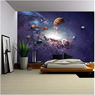 wall26 - High Resolution Images Presents Creating Planets of The Solar System. - Removable Wall Mural   Self-Adhesive Larg...