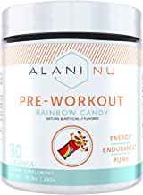 Sponsored Ad - Alani Nu Pre-Workout Supplement Powder for Energy, Endurance, and Pump, Rainbow Candy, 30 Servings
