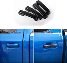 Voodonala Carbon Fiber Grain Door Handle Without Thermo Sensor Covers Trim for Ford F150 2014-2017