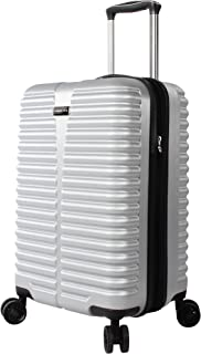 Ciao Carry On 100% PC Lightweight Expandable Luggage With Spinner Wheels (20in, Silver)