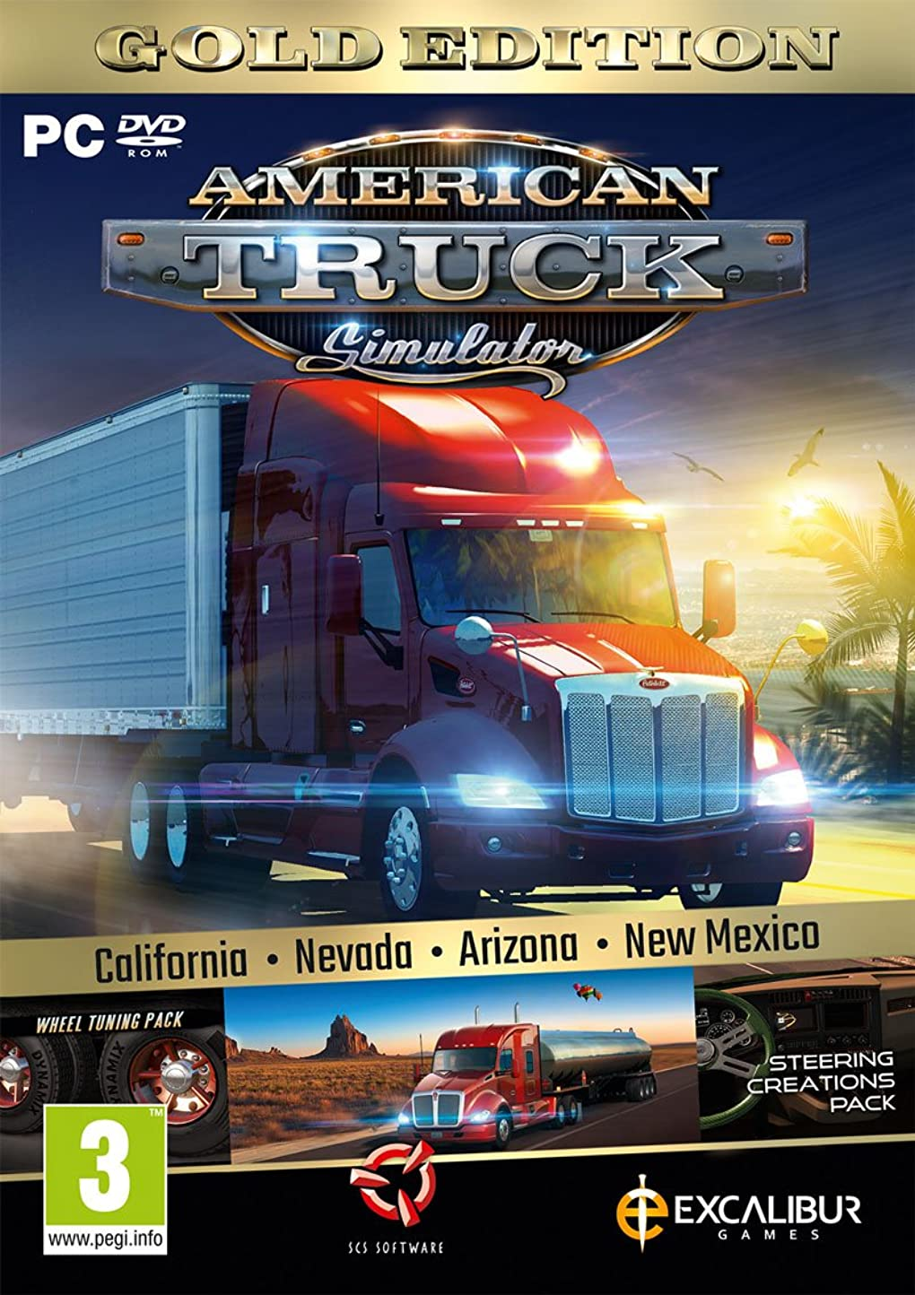 可能性僕の昇るAmerican Truck Simulator Gold (New Mexico DLC/Wheel Turning/Steering Creations) (PC DVD) (輸入版)