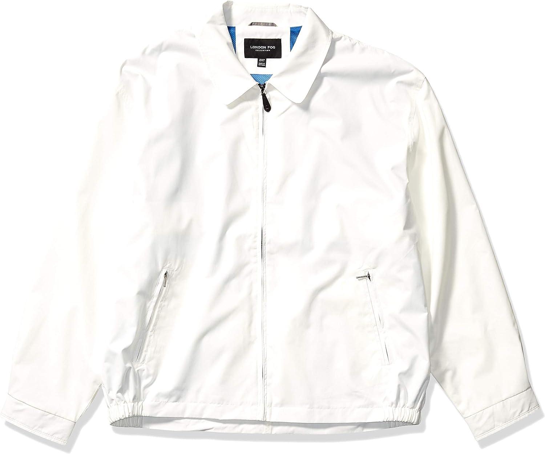 London Fog Men's Auburn アウトレット 新生活 Zip-Front Big-Tal Jacket Golf Regular
