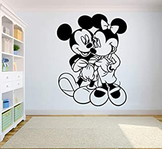 Mickey Mouse & Minnie Mouse Vinyl Poster Cartoon Wall Disney Vinyl Sticker Mickey Mouse and Friends Wall Vinyl Decal Decor for Home Childs Kids Room CSm4