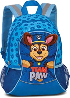 PawPatrol Team Paw - Mochila infantil para niños de 3 a 6 años con orejas de tela sobresalientes, 35 x 27 x 15 cm, 6 l, color azul