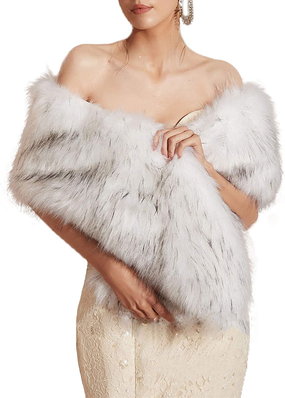Newdeve Colorado Springs Mall Bridal Cape Shawls Faux Fox 2021 new Short Fur Wedding Wraps