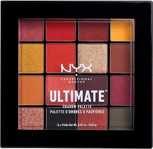 NYX Professional Makeup Palettes de Fards à Paupières Ultimate Shadow Palette, 16 Couleurs, Pigments Pressés, Fini Ir...