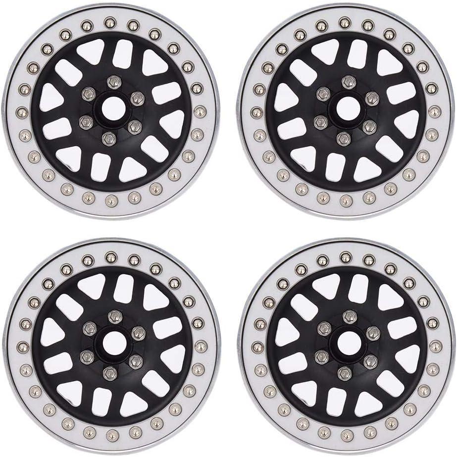 Dilwe 4pcs Over item handling RC Wheels Rims Alloy Beadlock Finally popular brand Wheel 2.2inch Aluminum
