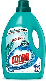 Colon Higiene - Detergente para Lavadora con activos higiénicos y elimina olores, adecuado para Ropa Blanca y de Color, formato Gel - 60 dosis