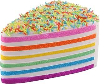 Anboor 5.8 Inches Squishies Cake Rainbow Jumbo Slow Rising Kawaii Scented Cheese Squishies,1Pcs
