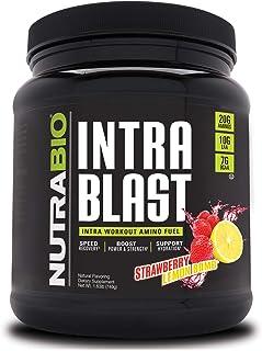 Sponsored Ad - NutraBio Intra Blast - 30 Servings (Strawberry Lemon Bomb)