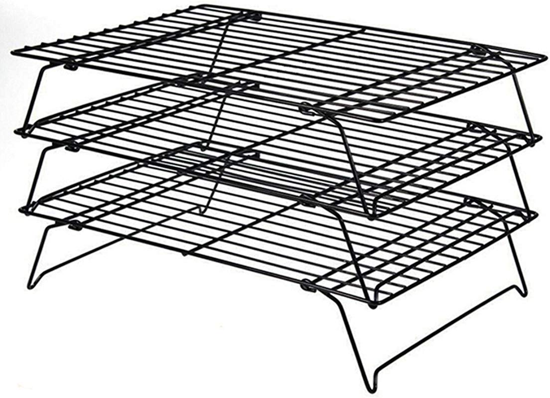 Daixers 3 Tier Stackable Cooling Rack Baking Racks 13 5x 9 5 Inch