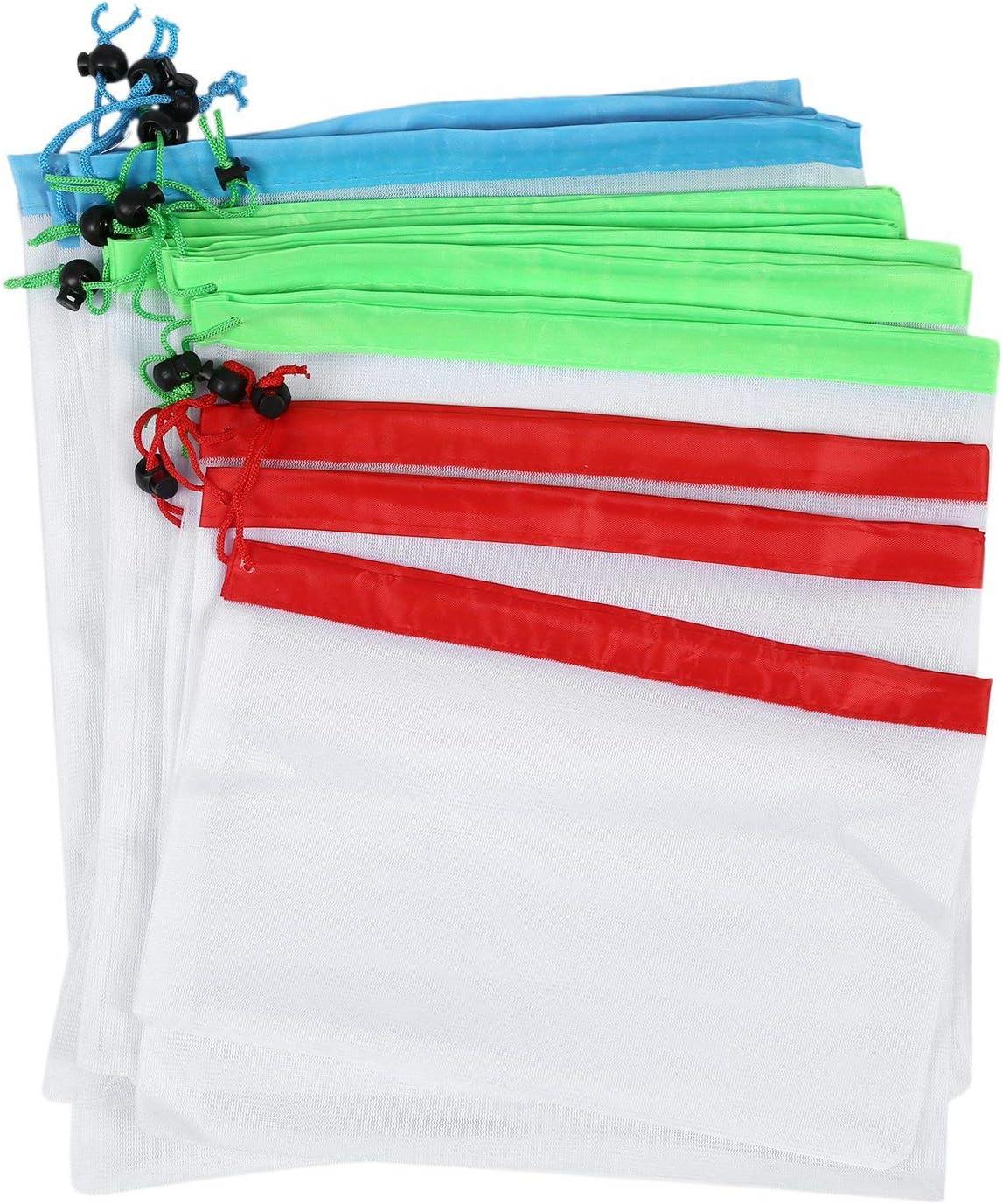 OVBBESS unisex 12pcs Reusable Mesh Produce Washable B Eco Friendly Limited price Bags