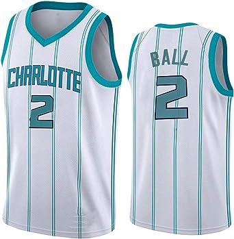 transpirable camiseta sin mangas temporada 2021 The New Charlotte Hornets 2# Camiseta de baloncesto para hombre y mujer S-XXL LaMelo Ball Jersey