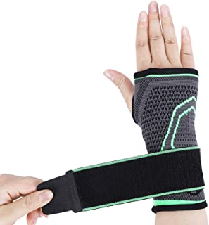 Wrist Support Sleeves, for Carpal Tunnel Syndrome Men and Women , Relieve Wrist Pain/Strain, Fatigue and Arthritis, Adjust...