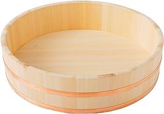 池川木材 寿司桶 木曽さわら 寿司飯台 銅 箍 45cm