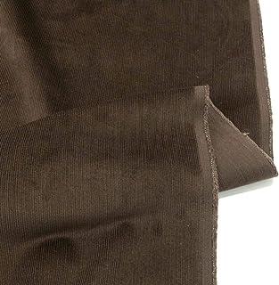 TOLKO 1m Mikro Cord Stoff | leichter Baumwoll Cordsamt | Bekleidungsstoff für Hosen Jacken Kleider Hemden | weiche Meterware 140cm breit | uni Baumwollstoffe Nähstoffe günstig kaufen Braun