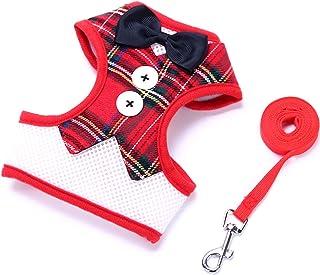QMZ Guinzaglio per Cani Piccolo Cane Teddy Vest Stile Papillon Abito da Sera Cinghia pettorale per Animali Domestici all'I...