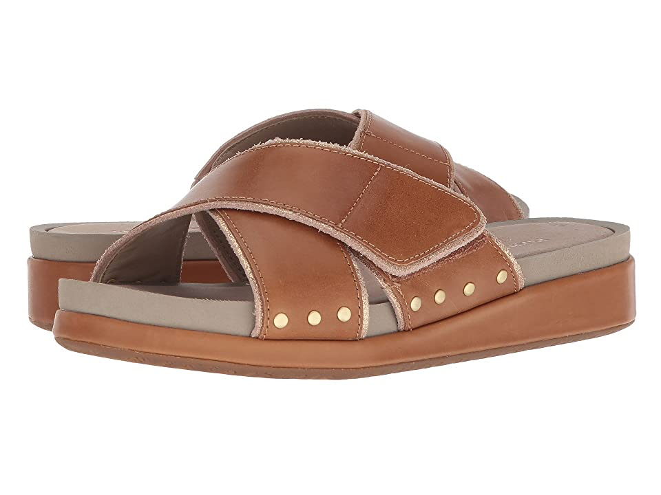 Hush Puppies Chrysta X-Band Slide (Tan Leather) Women