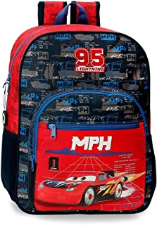 Mochila Escolar Cars Rocket Racing 40 cm Adaptable, Multicolor,27 x 38 x 12 cm