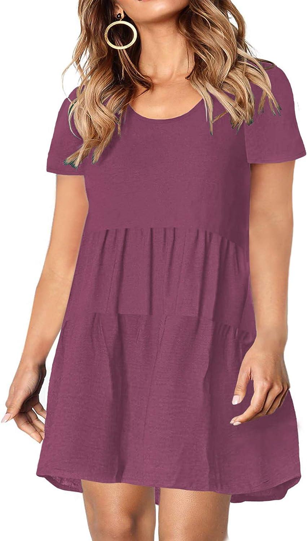 KARALIN L-4XL Plus Size Babydoll Dress for Short Women Sleeve New arrival 2021 model Tu