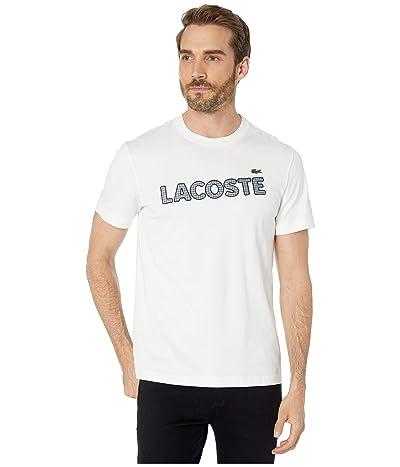Lacoste Short Sleeve Heavy Jersey Tattersall T-Shirt Regular (Flour) Men