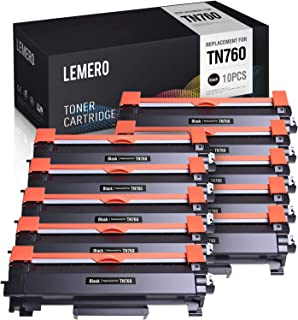 LEMERO (with Chip) Compatible High Yield Toner Cartridge Replacement for Brother TN760 TN730 TN-760 for Brother HL-L2350DW HL-L2395DW DCP-L2550DW MFC-L2710DW MFC-L2750DW
