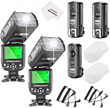 Neewer NW-561 Flash Speedlite Kit for Canon Nikon and Other DSLR Cameras,Include:(2) NW-561 Flash+(1) 2.4G Wireless Trigger(1 Transmitter + 2 Receiver)