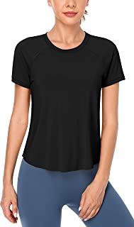 ATTRACO Women Workout Shirts Athletic Running Gym Shirts Yoga Top Short Sleeve