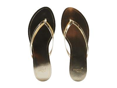 J.Crew Mirror Metallic Capri Sandal (Metallic Gold) Women